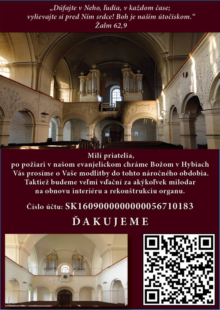 Požiar kostola v Hybiach - zbierka